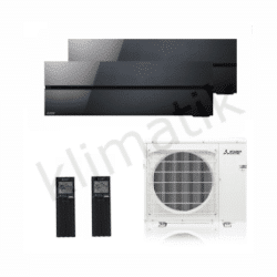 Mitsubishi Electric Diamond R32 MSZ-LN25-35VGB + MXZ-2F53VG Black
