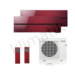 Mitsubishi Electric Diamond R32 MSZ-LN25-35VGR + MXZ-2F53VG RED